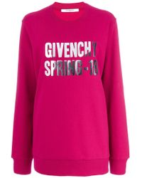 Givenchy - Foiled Spring-18 Sweatshirt - Lyst