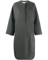 Enfold Concealed Front Coat - Gray