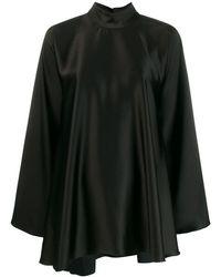 Styland High-neck Draped Dress - Black