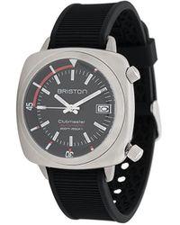 Briston Clubmaster Diver Brushed Horloge - Zwart