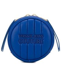 Versace Jeans Quilted Round Coin-purse - Blue