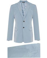 Prada Slim Fit Tailored Suit - Blue