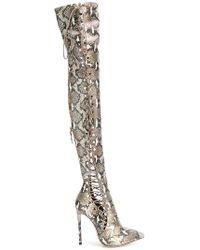 Gianni Renzi - Lace-up Knee Boots - Lyst