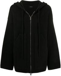 Theory オーバーサイズ フーデッドセーター - ブラック