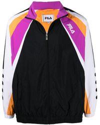 Fila カラーブロック ジップジャケット - ブラック