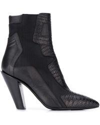 A.F.Vandevorst - Snakeskin Effect Ankle Boots - Lyst
