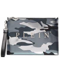 Philipp Plein Клатч С Камуфляжным Принтом - Серый