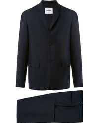 Jil Sander フラップポケット シングルジャケット - ブラック