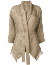 Brunello Cucinelli Приталенное Пальто С Поясом - Естественный