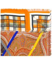 Pierre Louis Mascia - Colour-block Patch Scarf - Lyst