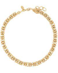 Jennifer Behr Chunky Chain-link Necklace - Metallic