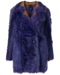Numerootto - Double Breasted Coat - Lyst