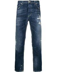 Dondup Distressed Slim-fit Jeans - Синий
