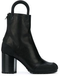 Random Identities Top Handle Ankle Boots - Black