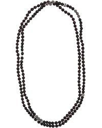 Tateossian Mesh Bead Necklace - Black