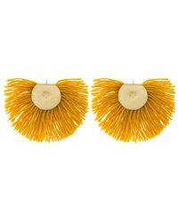 Katerina Makriyianni - Yellow Fringed Earrings - Lyst