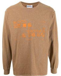 Blood Brother ロングtシャツ - ブラウン