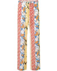 Stine Goya Aileen Floral Print Trousers - Red