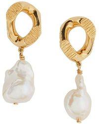 Burberry Chain-link Earrings - Metallic