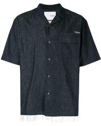 Yoshiokubo - Denim Camp Collar Shirt - Lyst