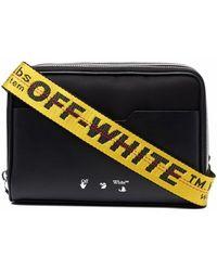 Off-White c/o Virgil Abloh Schoudertas Met Logo - Zwart
