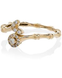 Rosa De La Cruz - Yellow Gold Bamboo Diamond Ring - Lyst