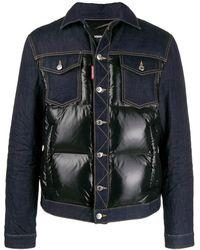 DSquared² Padded Denim Jacket - Blue