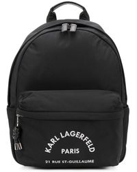 Karl Lagerfeld Address プリント バックパック - ブラック