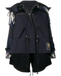 Sacai デコンストラクテッド ジャケット - ブラック