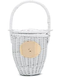 Patou ウーブン バケットバッグ - ホワイト