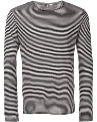 Isabel Marant ストライプ Tシャツ - ブラック
