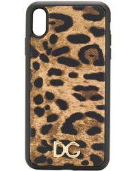 Dolce & Gabbana Iphone X Max Hoesje - Bruin