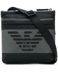 Emporio Armani Schultertasche mit Logo - Schwarz