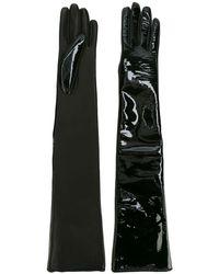 Manokhi High Shine Gloves - Black