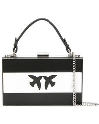 0a3bad7c8496c Pinko - Cantante Rigid Clutch In Black - Lyst