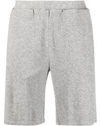 Majestic Filatures Elasticated-waist Cotton Track Shorts - Grey