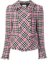 Moschino - Houndstooth Tweed Jacket - Lyst