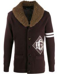 Dolce & Gabbana Vest Met Monogram - Bruin