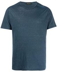 Roberto Collina ライトウェイト Tシャツ - ブルー