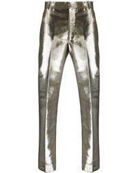 Alexander McQueen - メタリック テーラードパンツ - Lyst