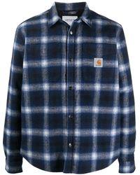 Carhartt WIP チェック シャツジャケット - ブラック