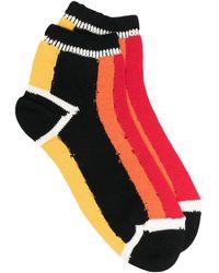 Yohji Yamamoto カラーブロック 靴下 - ブラック