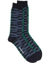 Henrik Vibskov Abstract-pattern Socks - Green