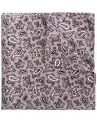 Pal Zileri Paisley Print Handkerchief - Pink
