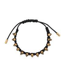 Alexander McQueen Armband Met Doodskop - Zwart