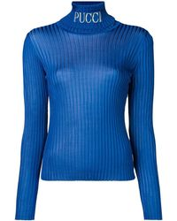Emilio Pucci Ribbed Sweater - Blue