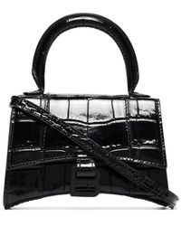 Balenciaga Mini sac à main Hourglass - Noir