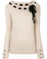 bow detail sweater - Nude & Neutrals Blumarine Under 70 Dollars eGgvtxA