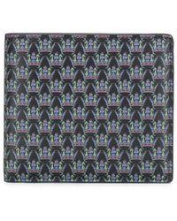 Gieves & Hawkes ロゴ 二つ折り財布 - ブルー