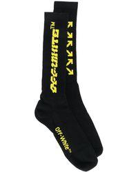 Off-White c/o Virgil Abloh Logo Mid-length Socks - Black